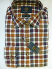 Viyella Shirt -Cotton & Wool Conker Brown Check