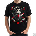 """The Walking Dead """"Survive Protect and Defend"""" Official Adult T-Shirts - Cool"""