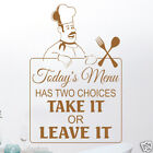 Today's Menu Wall Sticker Kitchen Decal Transfer (ART1)