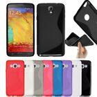 S-Line Soft Silicon Gel Case For Samaung Galaxy Note 4 + Free Screen Protector