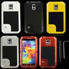 Aluminum Metal Gorilla Glass Shock/Water Proof Case for Samsung Galaxy S5 I9600