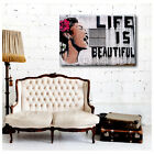 BIG Photo Paper Decal Sticker Vinyl Banksy Life Is Beautyful poster print repro