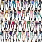 Women Colorful Galaxy Print Leggings Stretchy Sexy Jeggings Pencil Pants