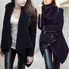 Fashion Womens Slim Punk Warm Long Coat Jacket Trench Windbreaker Parka Outwear