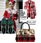 2014 New Arrival Winter Fur Woolen Handbag Ladies Checked Shoulder Bag Totes