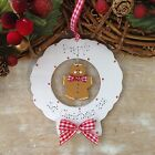 Personalised Baby Newborn 1st Christmas Gingerbread Wreath Tree Decoration