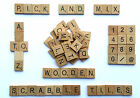 Wooden Pick And Mix *CHOOSE YOUR OWN* Scrabble Letters Tiles & Numbers 0-9@&/