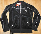 Puma girl black velour zipped top jacket cardigan size 9-10 y 140 cm BNWT