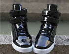 New Korean Style Mens Velcro Lace Up Pu Leather Ankcle Boots Sport Shoes сапоги#