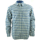 Mens Levis 1 Pocket Plaid Bright Indigo Shirt