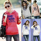 Autumn Women Korean Hoodie Jacket Coat Sweatshirt Outerwear Hooded Sweater