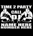 DJ T-Shirt Personalise With Name And Number Radio Mobile Advertise Rave Disco