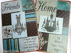 Metal Shabby Chic Distressed Vintage Retro Door Wall Sign Plaque Home/Friends