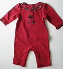 NWT Gymboree HOLIDAY TRADITIONS Red Plaid Bear Christmas Romper One-Piece 0-3-6