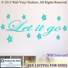 Disney Frozen LET IT GO! Wall Stickers  Snow Flakes SMALL TO HUGE!!  2
