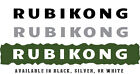 """Jeep Wrangler Side Hood Decal Pair Text Reads """"RUBIKONG"""" 3 Color Choices"""
