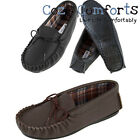 Unisex Genuine Leather Moccasins in Leather with Cotton Lining