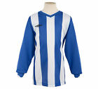 Umbro Men's Football Soccer Santos Jersey Shirt Long Sleeve - Blue White