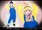 lolita love apartment despicable me Minion cosplay sleepwear parka jumpsuit