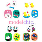 3D Nail Art Decal Stickers Cute Cartoon Duck Rainbow Giraffe Rabbit Owl
