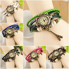 New Leather Quartz Watch Wrist Charm Bracelet Bangle Eiffel Tower Vintage Hot