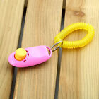 Dog Pet Click Clicker Training Obedience Agility Trainer Aid Wrist Strap BX