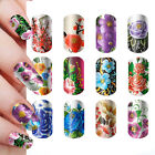 New Beautiful Flowers Nail Art Stickers Wrap Decal Decoration Tips Hot Sale