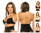 cleavage bra - DEEP CLEAVAGE CLEAR BACK INVISIBLE STRAPS FRONT CLOSE PUSH UP BRA 32-38 A B C