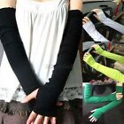 Warm Arm Warmer Cotton Long Fingerless Gloves Women Girl Party Fashion Accessory