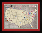 Tracking Art - NHL National Hockey League Team Arena Location Map Print THCKY $39.00 USD on eBay