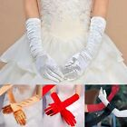 Satin Long Gloves Evening Party Costume Gloves Opera Wedding Bridal Accessory