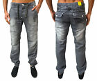 Mens Zico Cuffed Jeans Designer Joggers Cargo Combat Fit Stretch Knitted Denim