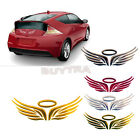 3D Angel Fairy Wings Car Auto Truck Logo Emblem Badge Decal Sticker 3 Colors