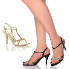 WOMENS LADIES WEDDING EVENING SANDALS BRIDAL DIAMANTE HIGH HEEL PROM SHOES SIZE