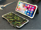 100%ARMOR KING Heavy Stainless Steel Aluminum Metal Filp Case For Samsung iPhone