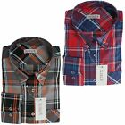 Mens Button Down Shirt by Xact Clothing Long Sleeve Large Check