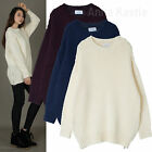 AnnaKastle Womens Side Zip Chunky Textured Knit Sweater Pullover size M - L