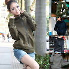Women Casual Long Sleeve Sweatshirt Hooded Coat Jacket Sweats Hoodies Top S M L