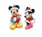 Christmas Life Size Party Cutouts Mickey or Minnie Mouse