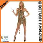 Womens Jungle Jane Tarzan Cavegirl Flintstones Safari Fancy Dress Costume