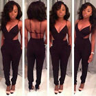 Black Sexy Women Backless Clubwear Jumpsuits Rompers Bodysuit Pants Outfits New
