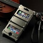 Armor Luxury Leather Metal Aluminum Case Cover For Apple iPhone 6/6s/7/8/Plus/X