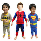 Baby Kid Toddler Boy Superman Spiderman Batman Pajamas Sleepwear Nightwear Cloth