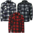 Sherpa Fleece Lined Check Collared Lumberjack Jacket  Mens Size