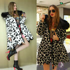 New Womens Winter Duck Down Jacket fur Hooded Floral Thicken A-Line Long Coat