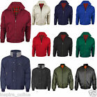 NEW MENS BOYS JACKETS CLASSIC VINTAGE BOMBER 70'S RETRO BIKER SECURITY COATS
