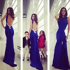 Sexy Cocktail Gown Backless Wedding Formal Ball Party Evening Prom Long Dress