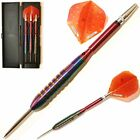 RAINBOW SABRES 90% TUNGSTEN DARTS SET. Aluminium Stems + Flights + Case - 26-28g