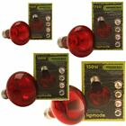 Komodo Infrared Spot Lamp ES Screw Fitting Reptile 24 Hour Heat Red Light Bulb