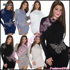 Sexy Women's Jumper Dress Batwing Tunic Ladies Pullover One Size 6,8,10,12 UK